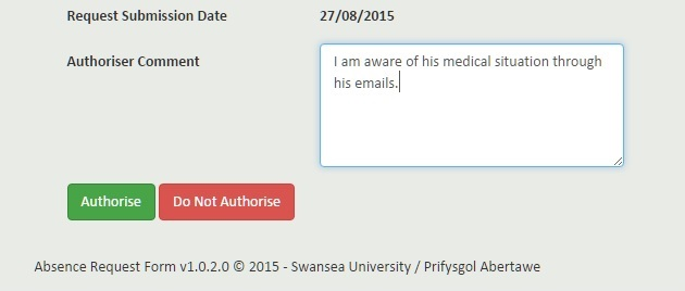 Swansea University Faq  How Do I Authorise A Gams Absence Request